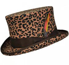 Official Maz Leopard Wool Felt Top Hat - 4 Sizes