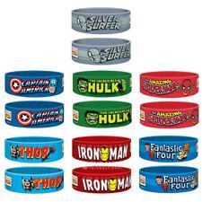 Marvel Super Hero Rubber Wristbands Thor Cpt America Spiderman Hulk Ironman