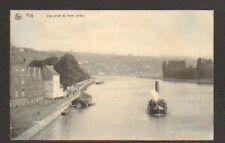 HUY (BELGIQUE) VILLAS ,BATEAU à VAPEUR & PENICHE en1909