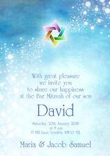 10 x Personalised Bar Mitzvah Invitations