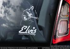 Elvis Presley - Car Window Sticker - The King Rock & Roll Music Sign Decal - V08