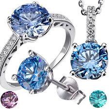 Goldmaid Ring, Kette oder Ohrstecker 925er Silber Swarovski Zirconia Echtschmuck
