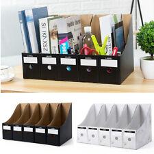 5Pcs/Set Storage Box File Holder Desk Organiser Foldable Paper Document