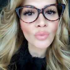 Sexy Thin Cat Eye Frames Rockabilly PinUp Geek Clear Eyeglasses Glasses 80475 M