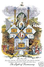 PERSONALIZED Masonic Light of Freemasonry Mason Certificate art print ring