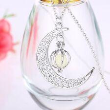 Collar Cadena y Prenda Estilo Luna con Piedra Luminosa Accesorios de Mujer