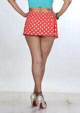 Mini falda corta para mujer sólo Damas Lunares Falda a cuadros Niñas Mini Falda 6-24