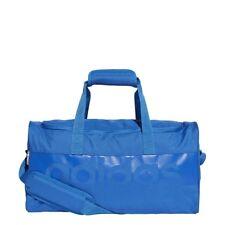 Adidas Linear Duffle Sports Bags Duffel Football Gym Holdall Training blue