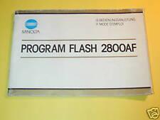 NOTICE MINOLTA FLASH 2800 AF en FRANCAIS  ALLEMAND