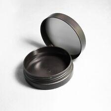60ml Cosmetic Travel Size Matt Black Recyclable PP Plastic Screw Top Jar 2.4cm D