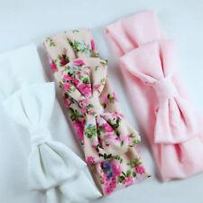 3pcs Cute Bowknot Newborn Headband Ribbon Elastic Turban Infant Accessories