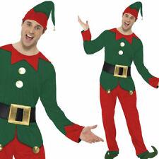 Mens Christmas Elf Costume Fun Santas Helper Fancy Dress Outfit Smiffys 31993