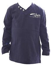 bambini maglietta maglione a maniche lunghe con bottoni scollo V RAGAZZI tsbf-82