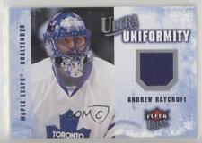 2008-09 Fleer Ultra Uniformity #UA-AR Andrew Raycroft Toronto Maple Leafs Card