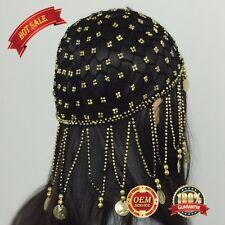Belly dance Beaded Headpiece Headwear Cap Hat Fancy Dress Costume for girl women