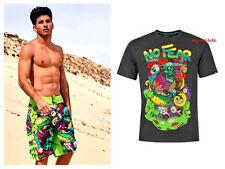 COSTUME BAGNO PISCINA SURF SHORT NO FEAR UOMO TESCHIO MARE t shirt S M L XL XXL