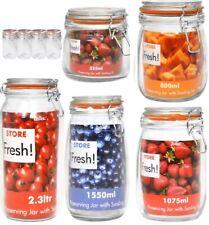 Airtight Clip Top Preserving Glass JARS Food Storage Kitchen