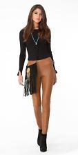 Hale Bob Ultra Suede Pin Tuck Pants | High Waist 00 XS NWT 6NSH8410