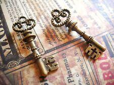 Bronze Key Charms Pendants-Steampunk-Skeleton Keys-Ornate 25pcs 50pcs 100pcs