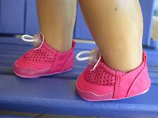 FUSCHIA WATER AEROBICS POOL SHOES fits American Girl & Bitty Baby/Twins