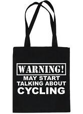 Warning May Talk About Cycling Cyclist Bag For Life Shopping Tote Bag