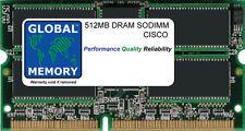 512MB Dram SoDIMM CISCO SUP ENG 2/3/4/5 MEM-C4K-512D - SDRAM, SDRAM MEM-C4K-U512D -