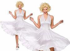 Adult HOLLYWOOD STARLET Blonde Marilyn Monroe Fancy Dress Ladies Costume UK 8-28