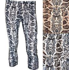 Leggings donna leggins pantaloni pantacollant fuseaux elasticizzato skinny capri