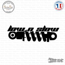 Sticker JDM Low and slow Decal Aufkleber Pegatinas D-140 - Couleurs au choix