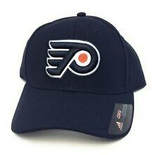 Mens Adidas Philadelphia Flyers One Size NHL Hockey Black Adjustable Hat Cap