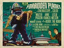 PLAQUE ALU DECO AFFICHE CINEMA FORBIDDEN PLANET SCI FICTION 1956