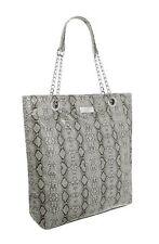 Womens Animal Snake Pattern Faux Leather Shoulder Bag Ladies Tote Handbag