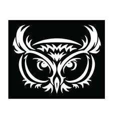 Owl Black White Tribal Car Vinyl Sticker - SELECT SIZE