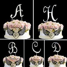 Cake Topper Metallic Silver Birthday Anniversary Letter Symbol Pick And Shiny UK