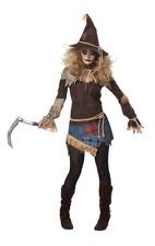 Womens Creepy Scarecrow Halloween Fancy Dress Costume