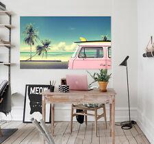 3D Sea View Bus 83  Wall stickers Vinyl Murals Wall Print Decal Art AJ STORE