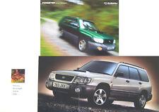 Subaru Forester GLS & Turbo 1998-9 Original UK Sales Brochure Pub. No. SB104