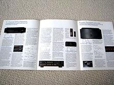 Nakamichi CA-1 / PA-1 amplifier, DE-1 decoder brochure