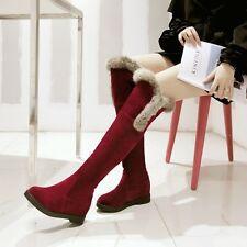 botas muslo zapatos de tacón mujer 5 cm rojo alto cómodo caldi como piel 8977