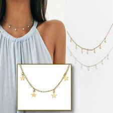 Vintage Bohemian Style Star Charm Tassel Pendant Choker Clavicle Chain Necklace