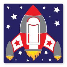 Fusée 2x/vaisseau spatial-royaume-uni interrupteur de lumière autocollants, enfant chambre nursery decor