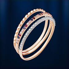 Russische Rose Gold 585 Triple dreifach Ringe dreier Damen Ring mit CZ. .