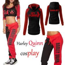 Harley Quinn Sport Gym clothing Hoodie /T-shirt / Trousers Halloween Cosplay Lot