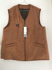 Man Sheepskin vest, chestnut colour, size S, M, L, XL, XXL, XXXL New Arrival
