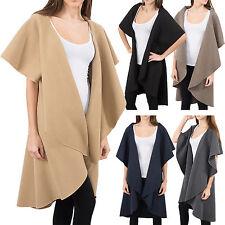 Donna Blogger Cascata Colletto Cappotto Giacca Transizione Gilet 34 36 38 D-150
