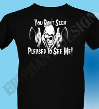 El Grim Reaper gótico Camiseta 3xl 4xl 5xl Para Hombre Hevy Rock macabro no miedo