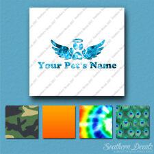 Custom Memorial Pet Paw Print Dog Name Decal Sticker - 25 Printed Fills  6 Fonts