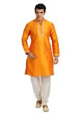 Trendy Highneck Mustard Indian Kurta Pajama Sherwani for Men