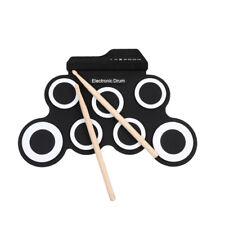 E-Drum Set Roll Up Drum Pad Kit USB Silikon Hand Drum Kit Kinder Spielzeug