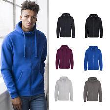 AWDis Heavyweight Zoodie - Warm Winter Plain Comfortable zipped hoodie |XS-3XL